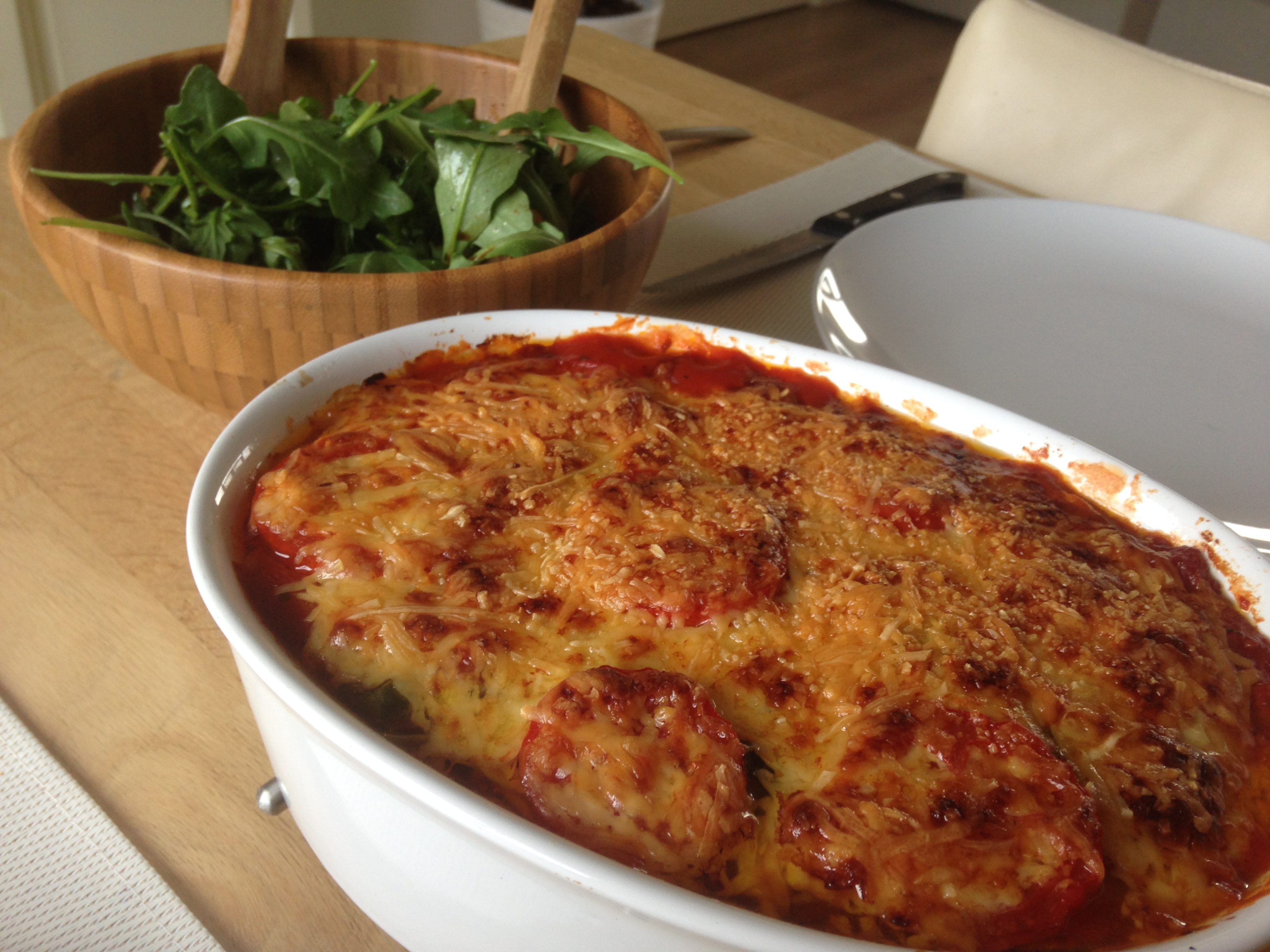 how to cook aubergine in lasagna
